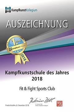 Kampfkunstschule des jahres 2018