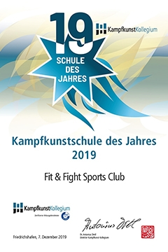 Kampfkunstsschule des Jahres 2019